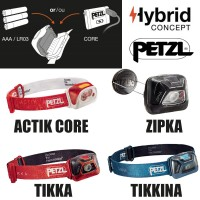 lampes frontales petzl hybrid